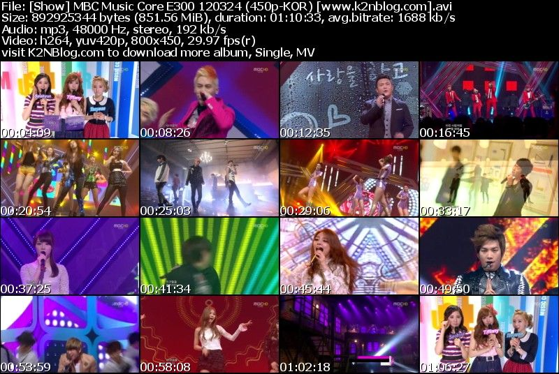 [Show] MBC Music Core E300 120324