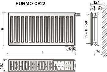 Grzejnik Purmo schemat